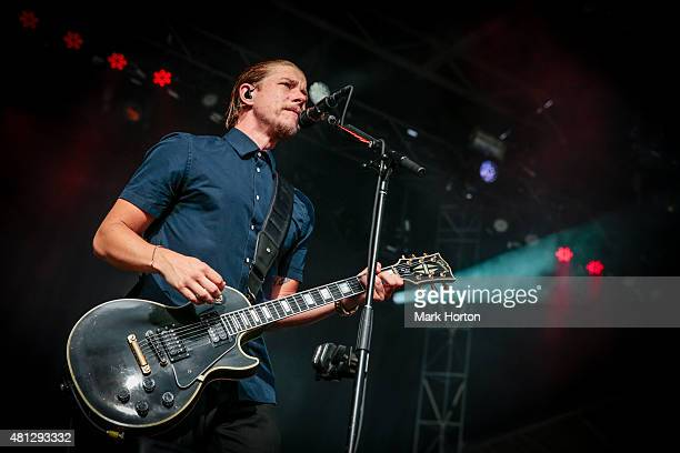 Paul Banks of Interpol performs on Day 10 of the RBC Royal Bank Bluesfest on July 18 2015 in Ottawa Canada