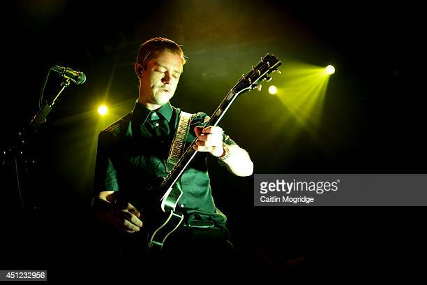 Paul Banks of Interpol performs on stage at Electric Ballroom on June 25 2014 in London United Kingdom