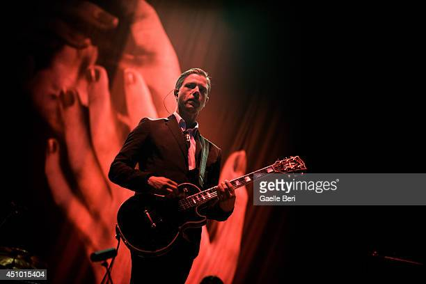 Paul Banks of Interpol performs on stage at Hurricane Festival on June 21 2014 in Scheessel Germany