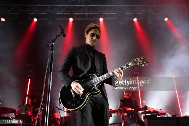 Paul Banks of Interpol performs on stage at O2 Academy Leeds on June 25, 2019 in Leeds, England.