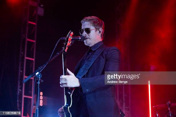 Paul Banks of Interpol performs on stage at O2 Academy Leeds on June 25 2019 in Leeds England