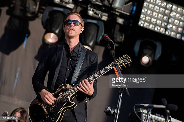 Paul Banks of Interpol performs on stage at Open'er Festival at Gdynia Kosakowo Airport on July 2 2014 in Gdynia Poland