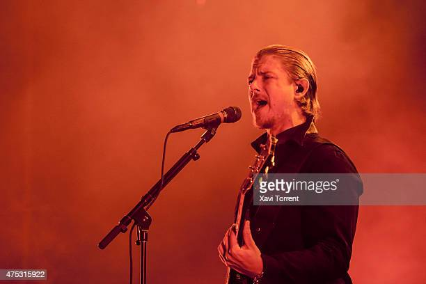 Paul Banks of Interpol performs on stage during day 4 of Primavera Sound 2015 on May 30 2015 in Barcelona Spain
