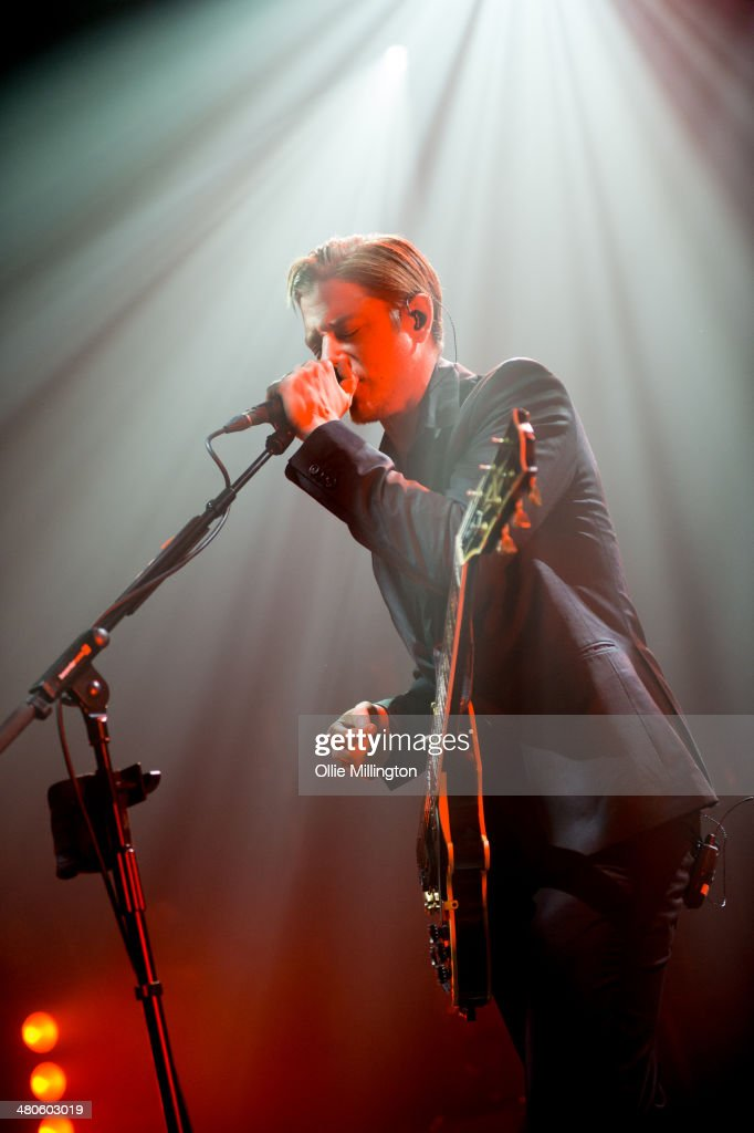 Paul Banks of Interpol performs onstage at the NME Awards Tour Show at The Institute on March 25, 2014 in Birmingham, England.