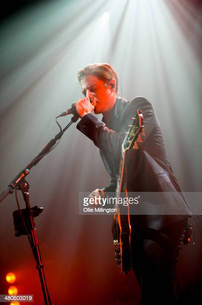 Paul Banks of Interpol performs onstage at the NME Awards Tour Show at The Institute on March 25 2014 in Birmingham England