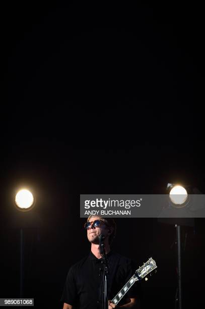 Paul Banks of the band Interpol performs on the main stage on day three of the 2018 TRNSMT festival at Glasgow Green Glasgow July 1 2018