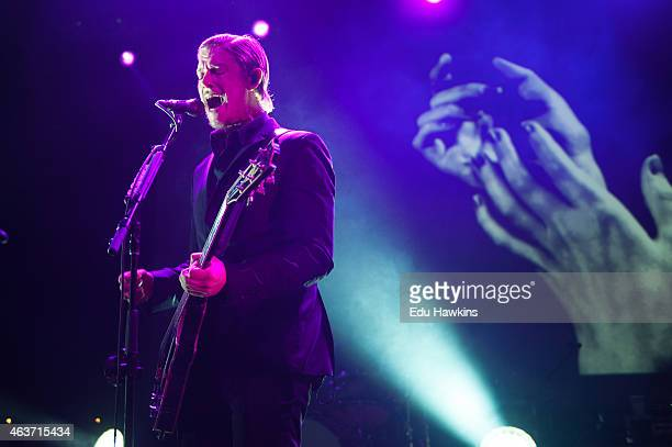 Paul Banks performs on stage with Interpol as an NME Awards Show at The Forum on February 17 2015 in London United Kingdom