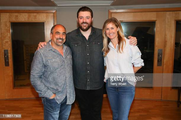 Paul BarnabeeSingersongwriter Chris Young and ACM Lifting Lives Executive Director Lyndsay Cruz attend ACM Lifting Lives Music Camp Recording Studio...