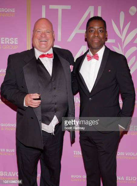 Paul Barry and Jaze Bordeaux attend The Italian Party during 2018 Toronto International Film Festival celebrating Excelsis movie at Aqualina at...