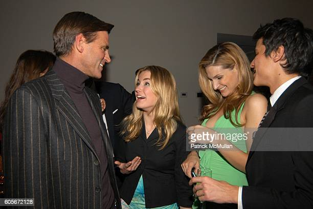 Paul Beck Amanda Hearst Claire Bernard and Luigi Tadini attend VERSACE VIP Dinner at 1 Beacon Court on February 7 2006 in New York