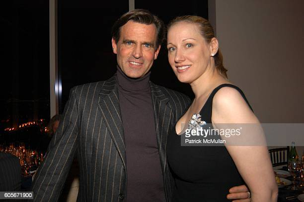 Paul Beck and Amy Sacco attend VERSACE VIP Dinner at 1 Beacon Court on February 7 2006 in New York
