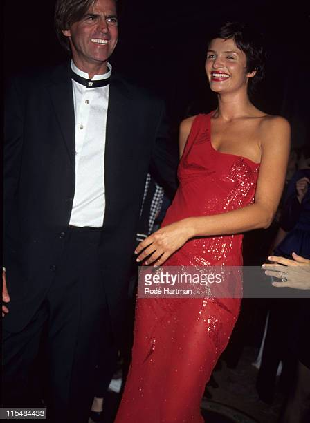 Paul Beck and Helena Christensen during Fashion Group International's Night Of Stars at Pierre Hotel in New York City New York United States
