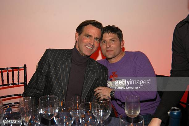 Paul Beck and Kenny Goss attend VERSACE VIP Dinner at 1 Beacon Court on February 7 2006 in New York