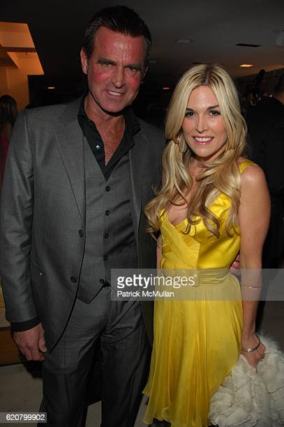 Paul Beck and Tinsley Mortimer attend DONATELLA VERSACE celebrates the launch of VERSACE MENSWEAR at Barneys NYC on March 18 2008 in New York City