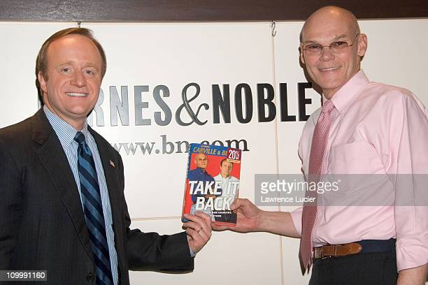 Paul Begala and James Carville during Paul Begala and James Carville Sign Their Book Take It Back at Barnes Noble in New York City January 25 2006 at...