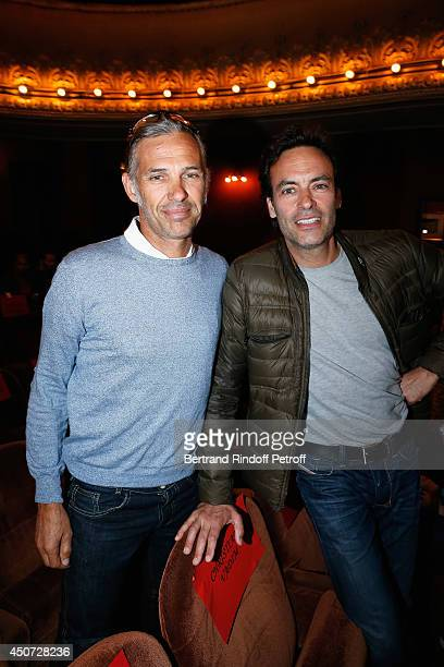 Paul Belmondo and Anthony Delon aattend the 'Concours D'Art Dramatique' at Theatre Antoine on June 16 2014 in Paris France