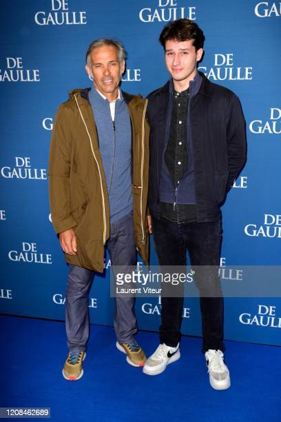Paul Belmondo and his son Giacomo Belmondo attends the De Gaulle premiere at UGC Normandie on February 24 2020 in Paris France
