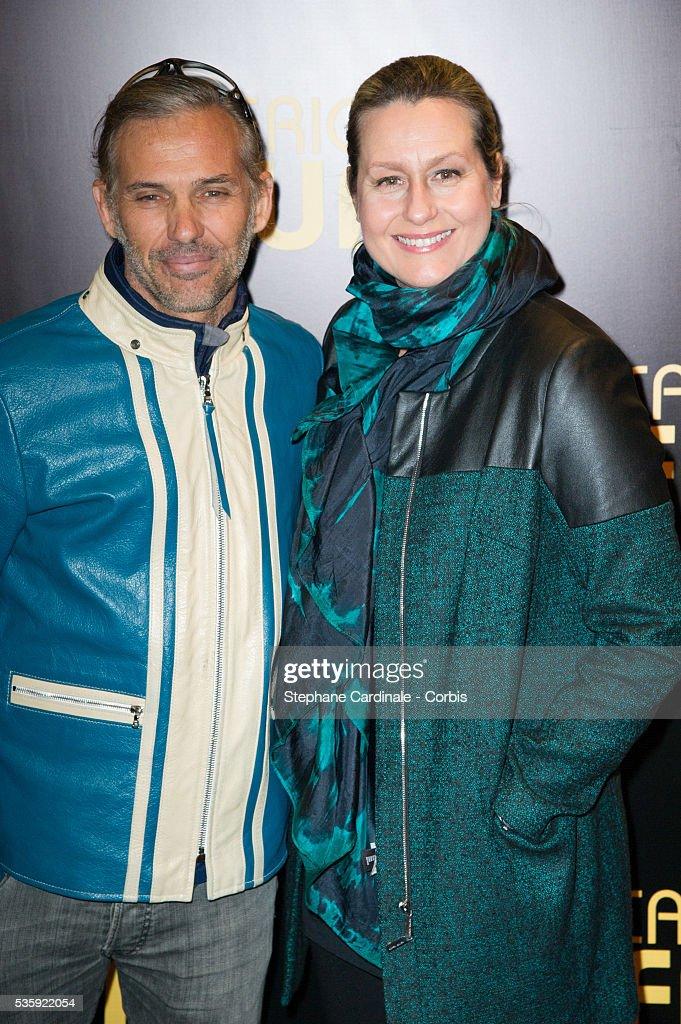 Paul Belmondo and Luana Belmondo attend the 'American Bluff' Paris Premiere at Cinema UGC Normandie, in Paris.