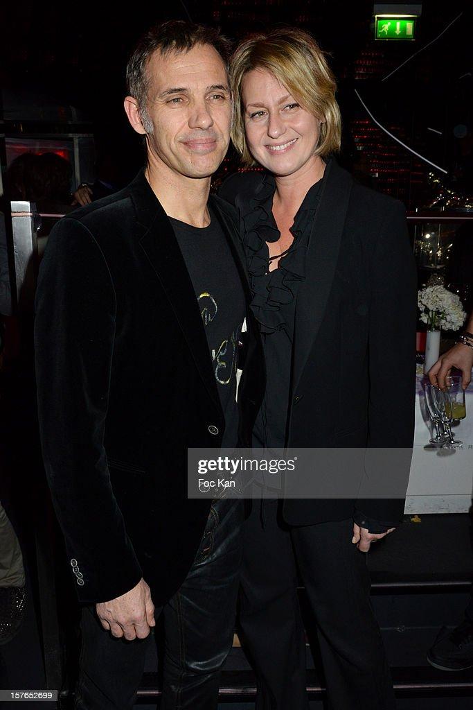 Paul Belmondo and Luana Belmondo attend the Jeweler Edouard Nahum 'Maya' New Collection Launch Party at La Gioia on December 4, 2012 in Paris, France.