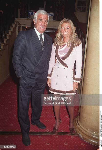 Paul Belmondo and Natty Belmondo at theParis Theatre Production Of Le Mari La Femme Et L'Amant