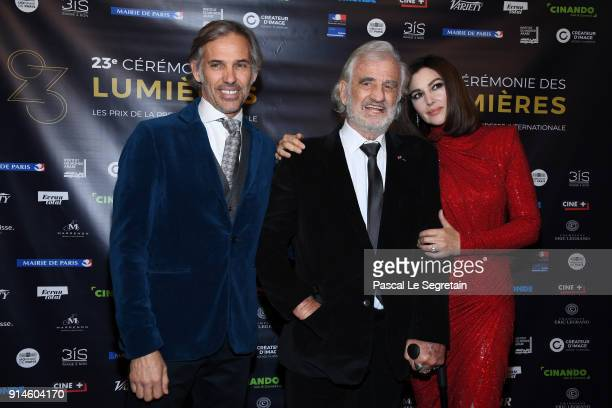 Paul Belmondo JeanPaul Belmondo and Monica Bellucci attend the 23rd Lumieres Award Ceremony at Institut du Monde Arabe on February 5 2018 in Paris...
