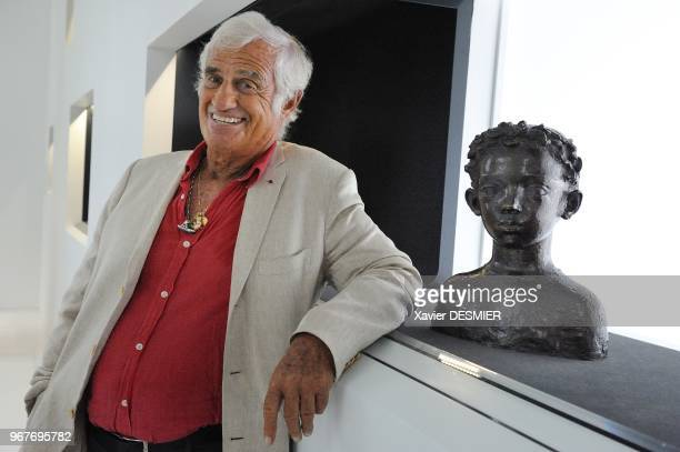 Paul Belmondo Museum Boulogne Billancourt JeanPaul Belmondo visits the Museum of his father Paul accompanied with his brother and with his nephew...