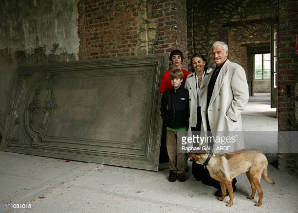 Paul Belmondo Museum Project Start in Paris France on November 22nd 2007 French actor Jean Paul Belmondo inside the new museum with his sister...