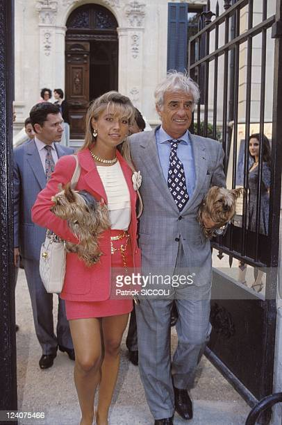 Paul Belmondo's Exposition In Aix En Provence France On June 24 1993 JeanPaul Belmondo and Natty