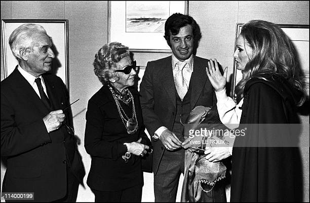 Paul Belmondo's sculptures exhibit in Paris France on November 20 1970Paul Belmondo his wife JeanPaul Belmondo and Ursula Andress