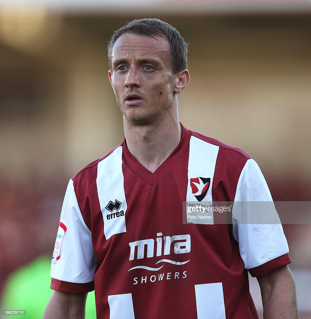 Paul Benson of Cheltenham Town in action during the npower League Two Play Off Semi Final Second Leg between Cheltenham Town and Northampton Town at Abbey Business Stadium on May 5, 2013 in Cheltenham, England.