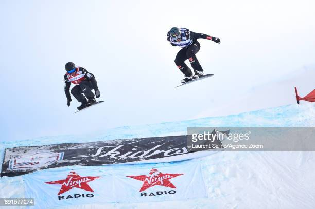 Paul Berg of Germany takes 1st place Adam Lambert of Australia takes 2nd place during the FIS Freestyle Ski World Cup Men's and Women's Ski...