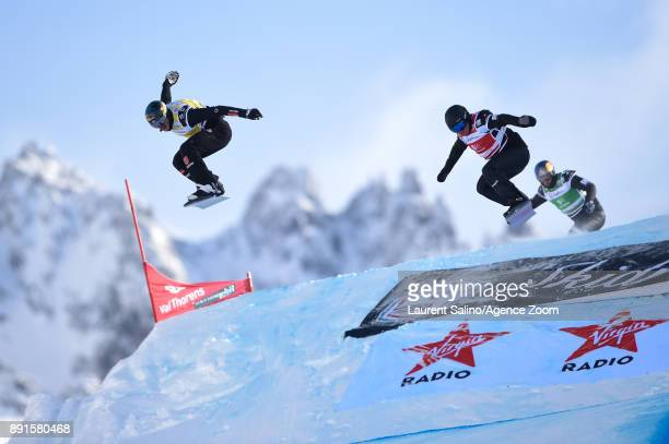 Paul Berg of Germany takes 1st place Adam Lambert of Australia takes 2nd place Alex Pullin of Australia competes during the FIS Freestyle Ski World...