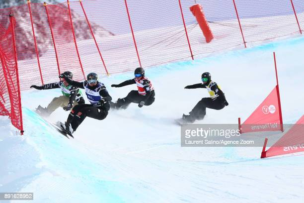 Paul Berg of Germany takes 1st place Adam Lambert of Australia takes 2nd place Mick Dierdorff of USA competes Matthew Thomas of Australia during the...