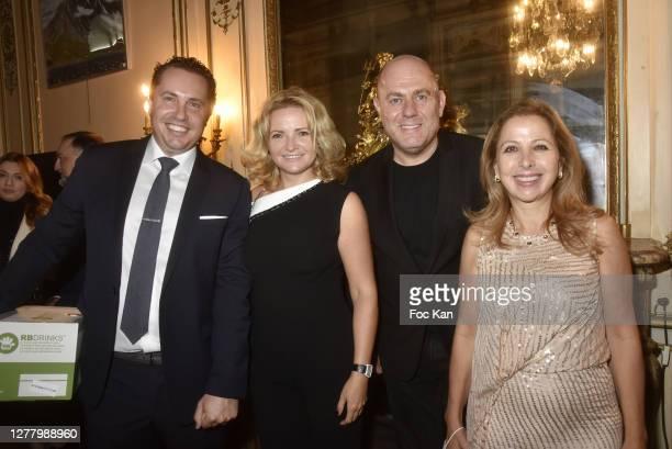 """Paul Berkmann, Katia Solotsinskaya, Francesco Maio and Karine Ohana attend the Cocktail """"Karine Ohana And Co"""" Hosted by Katia Solotsinskaya, Karine..."""