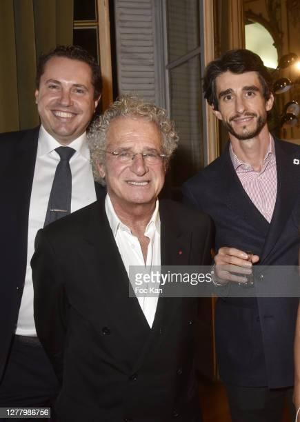 "Paul Berkmann Laurent Dassault and Mikael Petrossian attend the Cocktail ""Karine Ohana And Co"" Hosted by Katia Solotsinskaya, Karine Ohana and..."