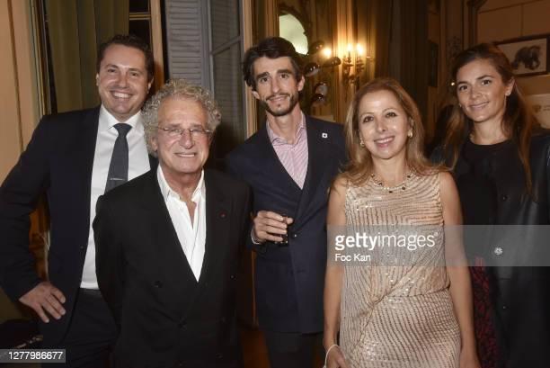 "Paul Berkmann Laurent Dassault, Mikael Petrossian, Karine Ohana and Anais Petrossian attends the Cocktail ""Karine Ohana And Co"" Hosted by Katia..."