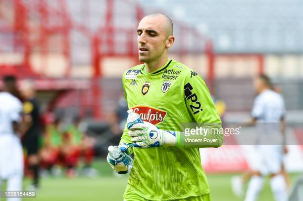Paul BERNARDONI goalkeeper of SCO Angers during the Ligue 1 match between Dijon and Angers at Stade Gaston Gerard on August 22, 2020 in Dijon, France.
