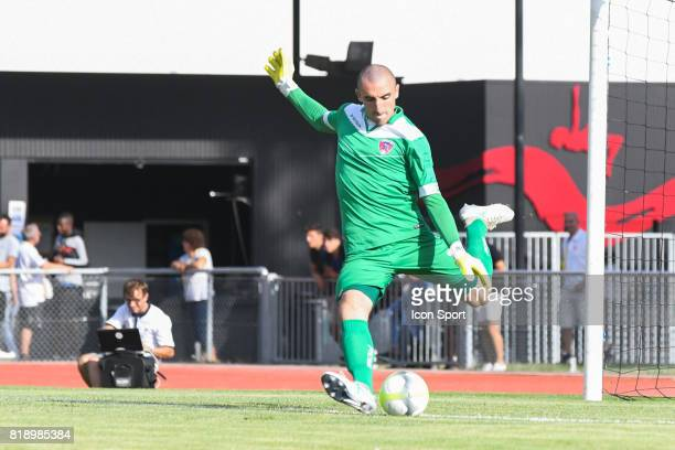 Paul Bernardoni of Clermont during the friendly match between Montpellier Herault and Clermont foot on July 19 2017 in Millau France