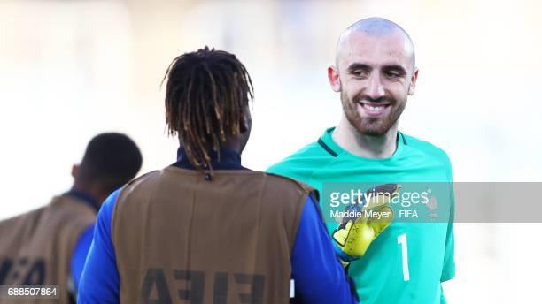 Paul Bernardoni of France after the FIFA U20 World Cup Korea Republic 2017 group E match between France and Vietnam at Cheonan Baekseok Stadium on...
