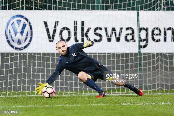 Paul Bernardoni of France during the friendly U20 match between France and Senegal on March 23 2017 in SaintMalo France