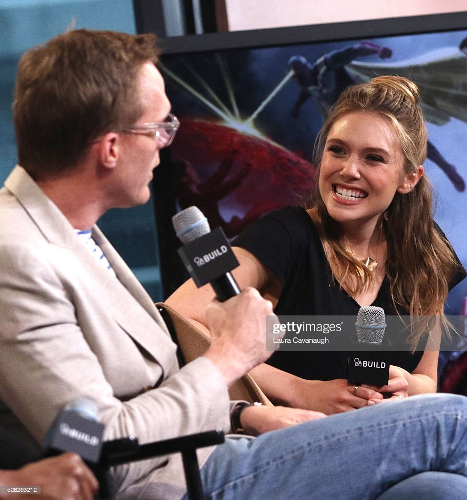 Paul Bettany, Chadwick Boseman, Elizabeth Olsen, Anthony Russo and Joe Russo Discuss 'Captain America: Civil War' At AOL Build : News Photo