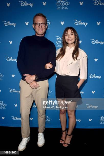 Paul Bettany and Elizabeth Olsen of 'WandaVision' took part today in the Disney Showcase at Disney's D23 EXPO 2019 in Anaheim Calif 'WandaVision'...