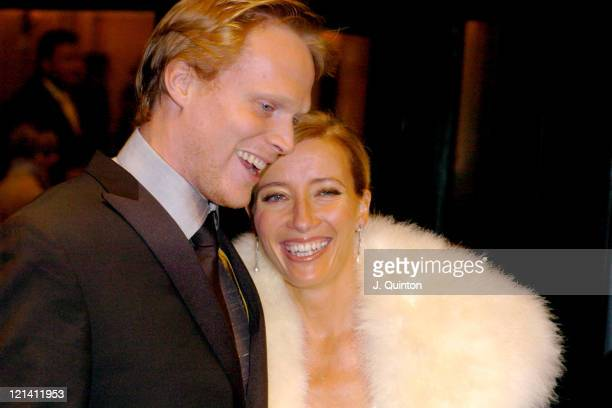 Paul Bettany and Emma Thompson during 24th London Film Critics' Circle Awards Arrivals at The Dorchester Hotel in London Great Britain