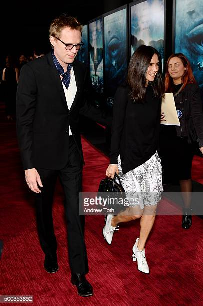 Paul Bettany and Jennifer Connelly attend In The Heart Of The Sea New York premiere at Frederick P Rose Hall Jazz at Lincoln Center on December 7...