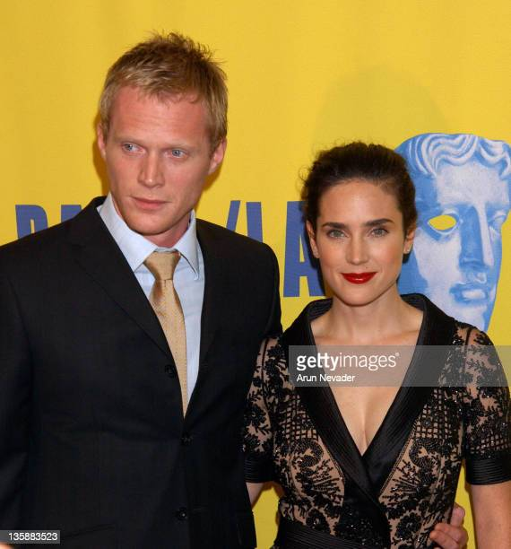 Paul Bettany and Jennifer Connelly during 12th Annual BAFTA/LA Britannia Awards at Century Plaza Hotel in Century City, California, United States.