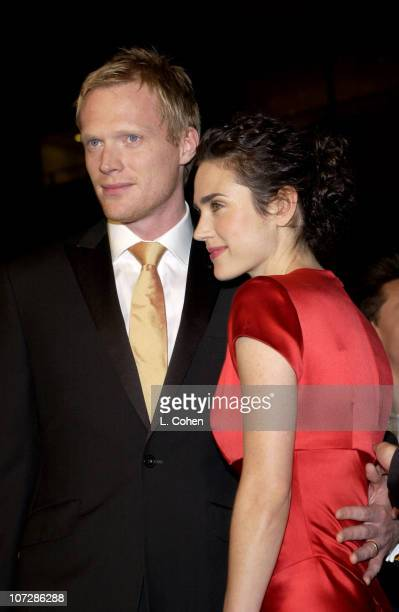 """Paul Bettany and Jennifer Connelly during """"Master & Commander: The Far Side of the World"""" Los Angeles Premiere - Red Carpet at Samuel Goldwyn Theater..."""