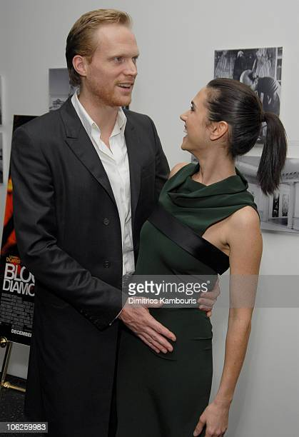 Paul Bettany and Jennifer Connelly during New York Screening of 'Blood Diamond' Arrivals at MoMa in New York City New York United States