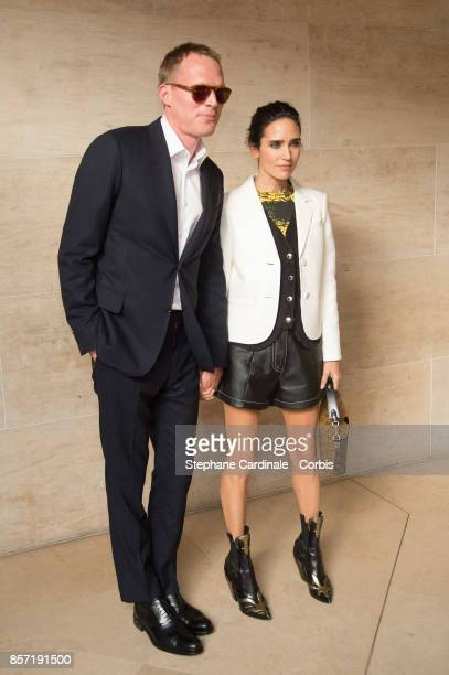 Paul Bettany and Jennifer Connely attend the Louis Vuitton show as part of the Paris Fashion Week Womenswear Spring/Summer 2018 at Musee du Louvre on...