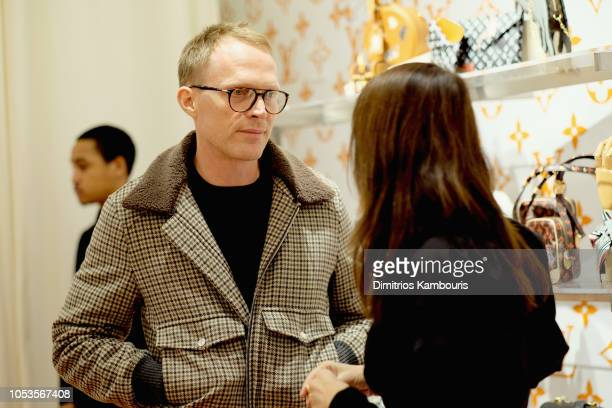 Paul Bettany and MarieAmelie Sauve attend the Louis Vuitton X Grace Coddington Event on October 25 2018 in New York City