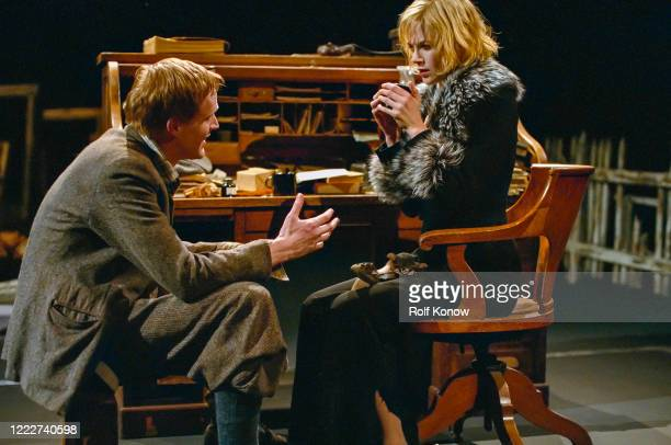 Paul Bettany and Nicole Kidman in Dogville directed by Lars von Trier Sweden 2002